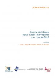 Analyse du tableau input-output interrégional pour l'année 2010