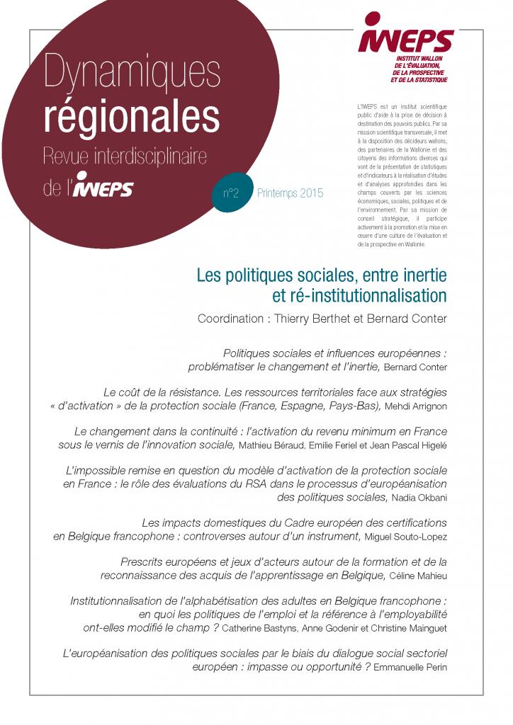 Les politiques sociales, entre inertie et ré-institutionnalisation