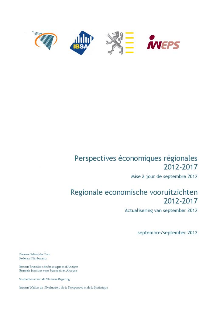 Perspectives économiques régionales 2012-2017 - Update