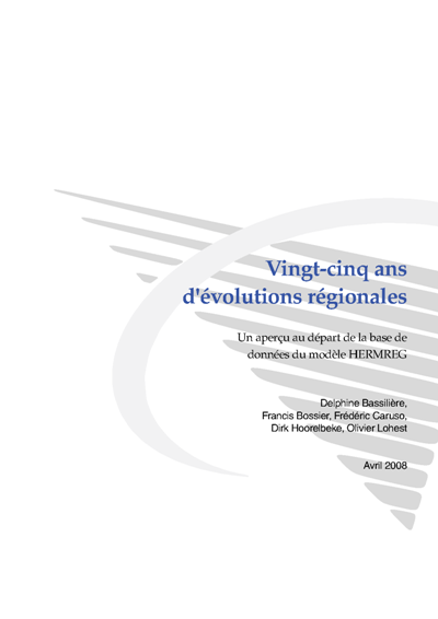 Vingt-cinq ans d'évolutions régionales