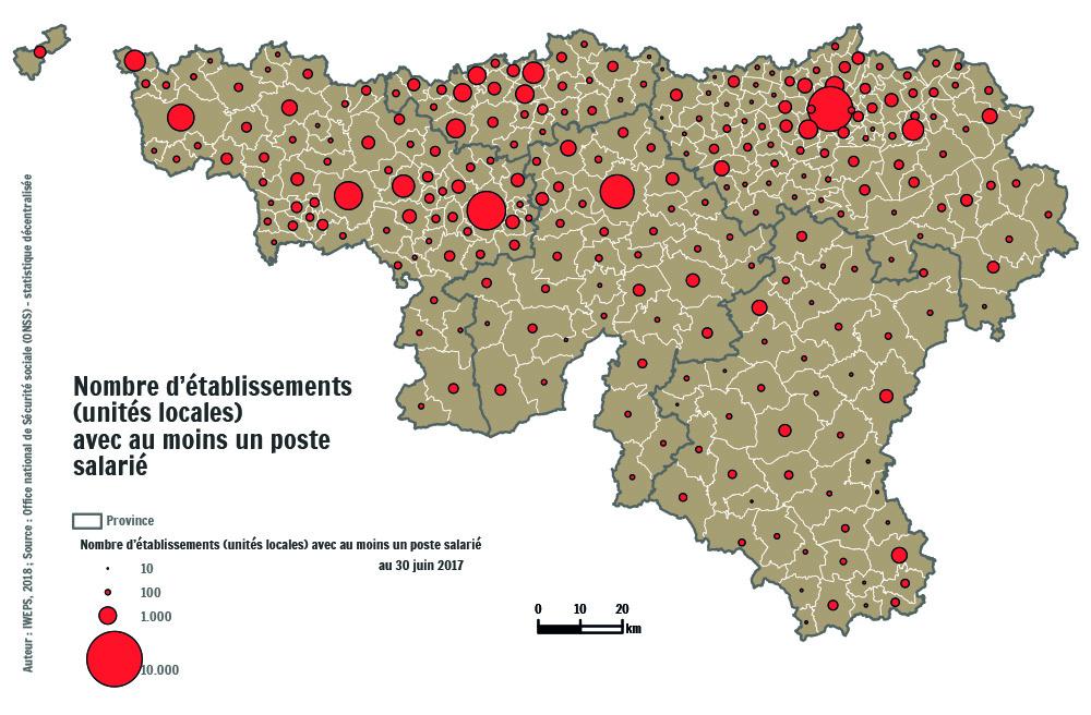 1fdbe4967bc ... établissements implantés en Wallonie au 30 juin 2017 sont localisés  dans les 6 villes suivantes   Liège