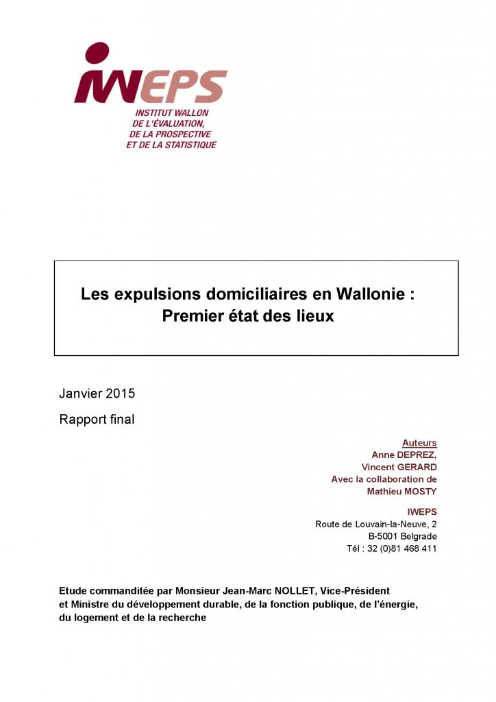 Les expulsions domiciliaires en Wallonie