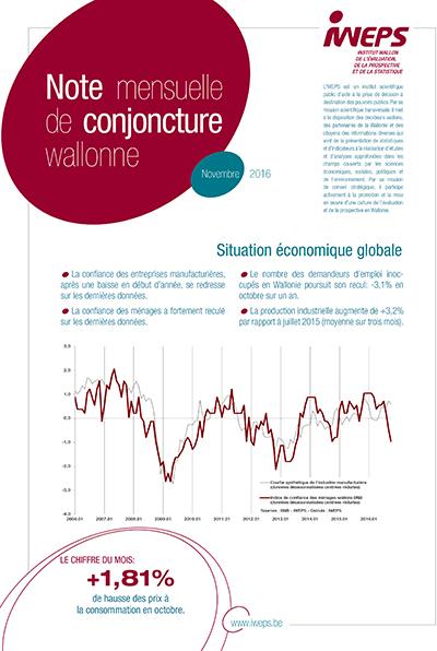 Note mensuelle de conjoncture wallonne - Novembre 2016