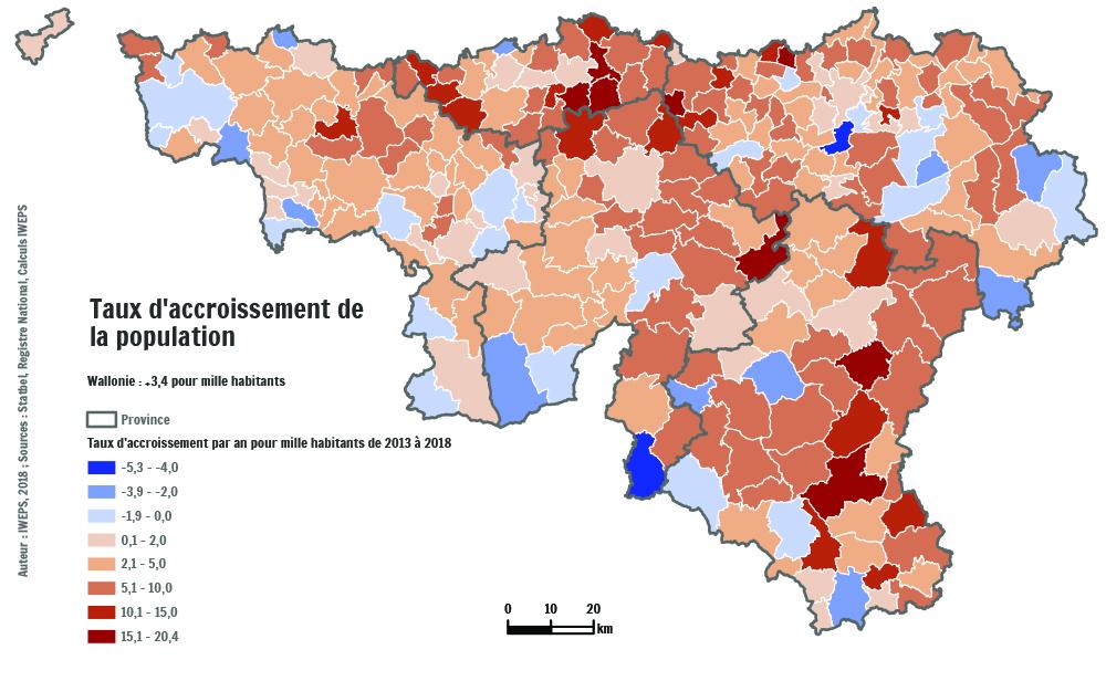 Taux D Accroissement De La Population Communale Iweps