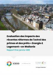 Evaluation des impacts des récentes réformes de l'octroi des primes et des prêts « Energie & Logement » en Wallonie