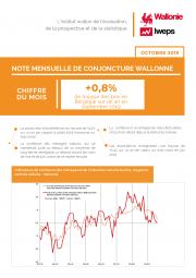Note mensuelle de conjoncture wallonne - Octobre 2019