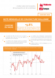 Note mensuelle de conjoncture wallonne - Janvier 2020