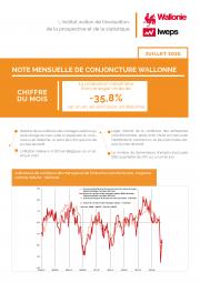 Note mensuelle de conjoncture wallonne - Juillet 2020