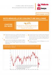 Note mensuelle de conjoncture wallonne - Décembre 2020