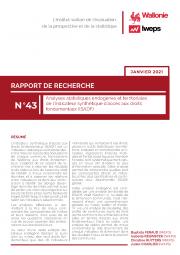 Analyses statistiques endogènes et territoriales de l'Indicateur synthétique d'accès aux droits fondamentaux (ISADF)