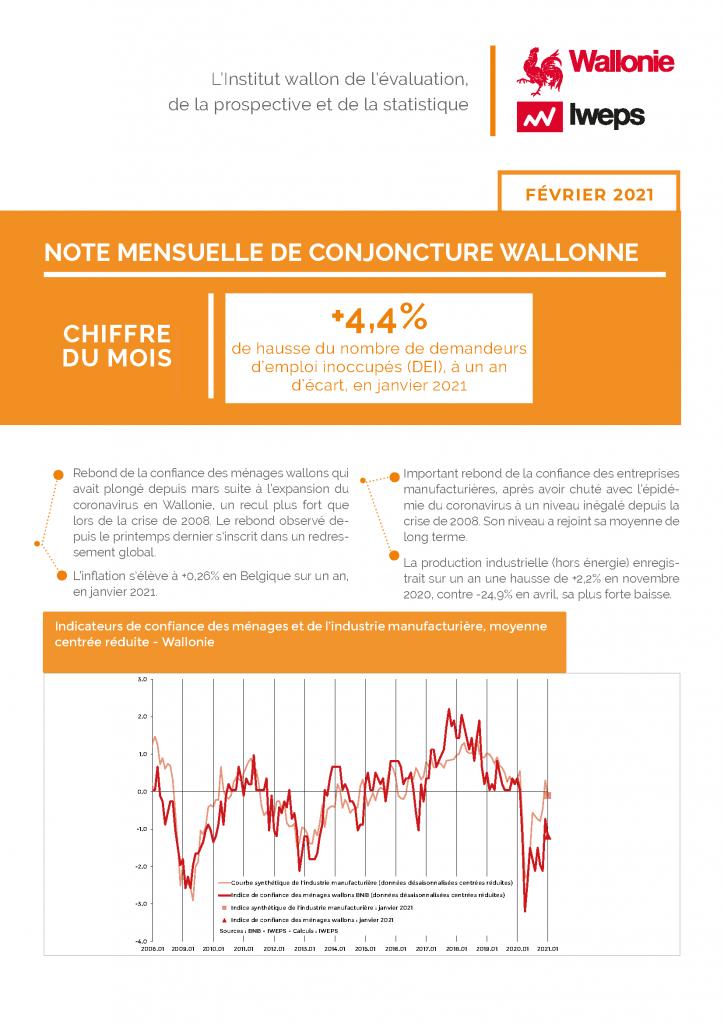 Note mensuelle de conjoncture wallonne - Février 2021